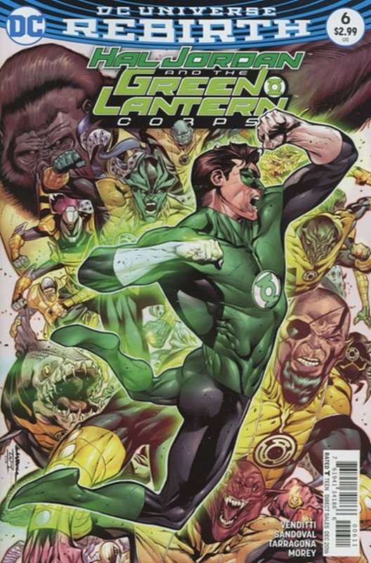 Cover of Hal Jordan & GL Corps (Vol 1) #6. One of 250,000 Vintage American Comics on sale from Krypton!
