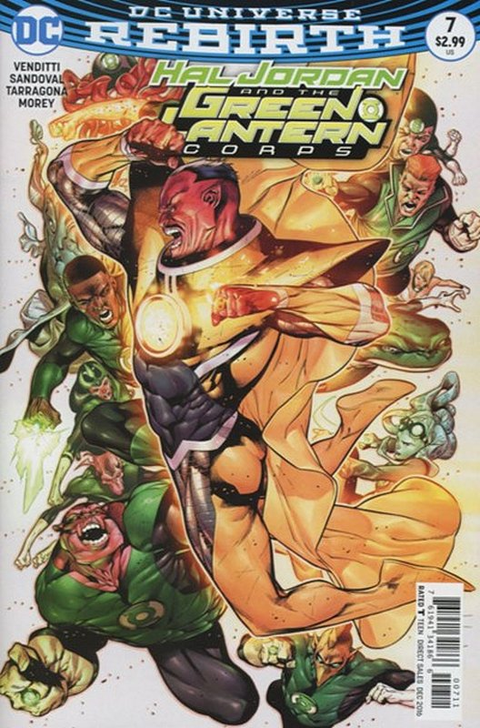 Cover of Hal Jordan & GL Corps (Vol 1) #7. One of 250,000 Vintage American Comics on sale from Krypton!
