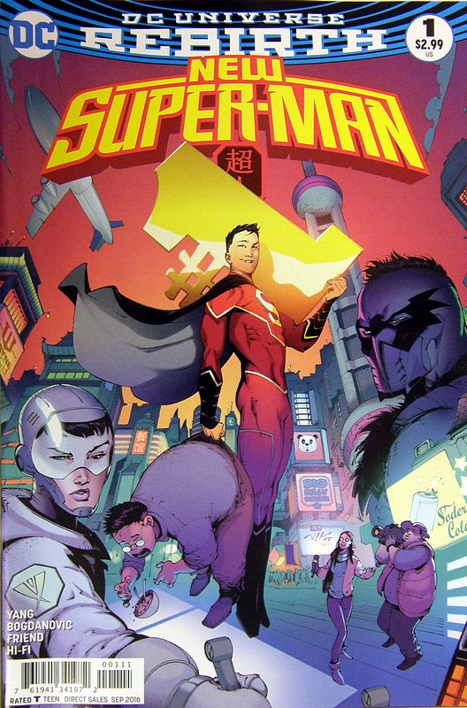 Cover of New Super-man (Vol 1) #1. One of 250,000 Vintage American Comics on sale from Krypton!