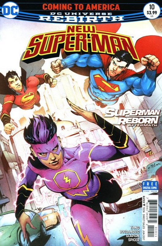 Cover of New Super-man (Vol 1) #10. One of 250,000 Vintage American Comics on sale from Krypton!