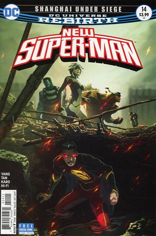 Cover of New Super-man (Vol 1) #14. One of 250,000 Vintage American Comics on sale from Krypton!