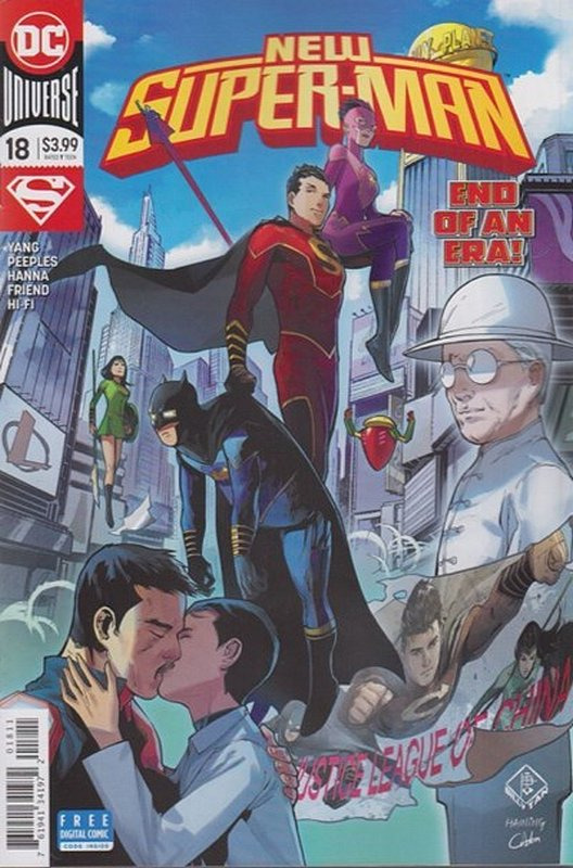 Cover of New Super-man (Vol 1) #18. One of 250,000 Vintage American Comics on sale from Krypton!