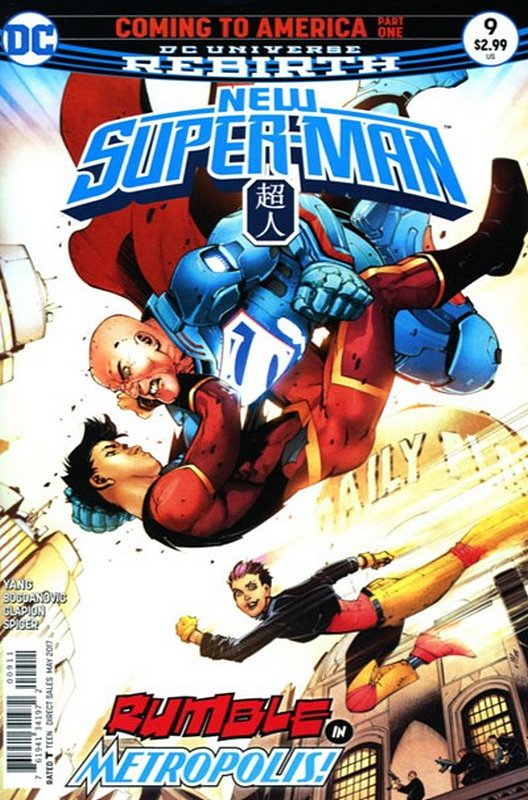 Cover of New Super-man (Vol 1) #9. One of 250,000 Vintage American Comics on sale from Krypton!