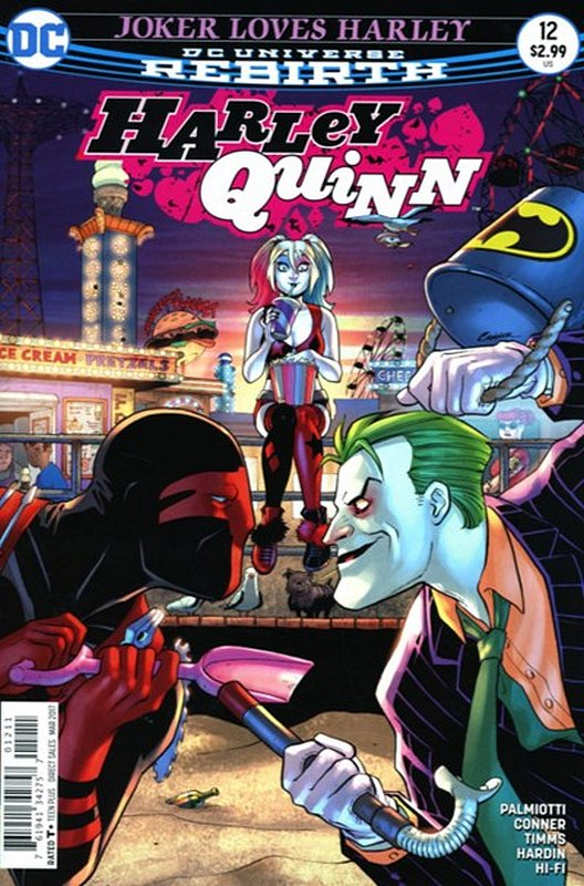 Cover of Harley Quinn (Vol 3) #12. One of 250,000 Vintage American Comics on sale from Krypton!