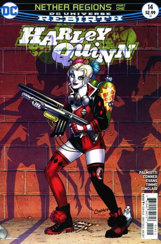 Cover of Harley Quinn (Vol 3) #14. One of 250,000 Vintage American Comics on sale from Krypton!