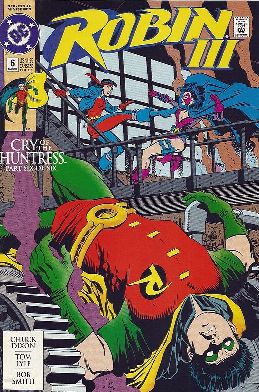 Cover of Robin III: Cry of the Huntress #6. One of 250,000 Vintage American Comics on sale from Krypton!