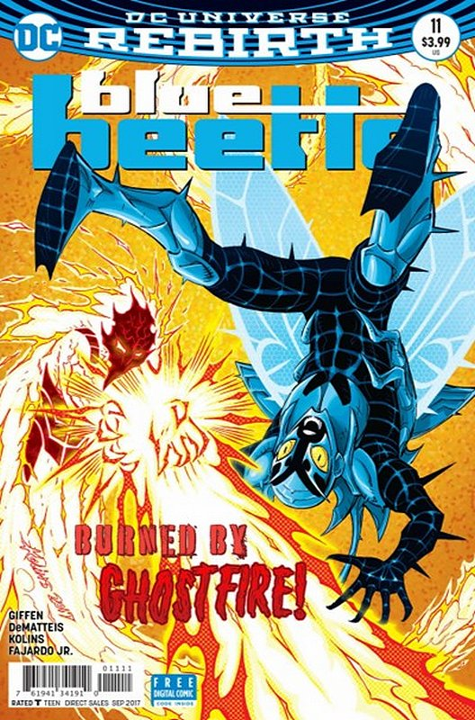 Cover of Blue Beetle (DC Vol 4) #11. One of 250,000 Vintage American Comics on sale from Krypton!