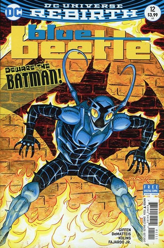 Cover of Blue Beetle (DC Vol 4) #12. One of 250,000 Vintage American Comics on sale from Krypton!
