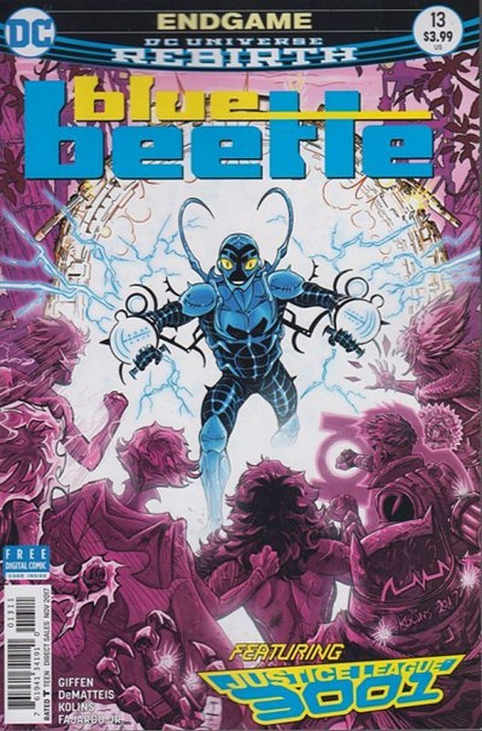 Cover of Blue Beetle (DC Vol 4) #13. One of 250,000 Vintage American Comics on sale from Krypton!
