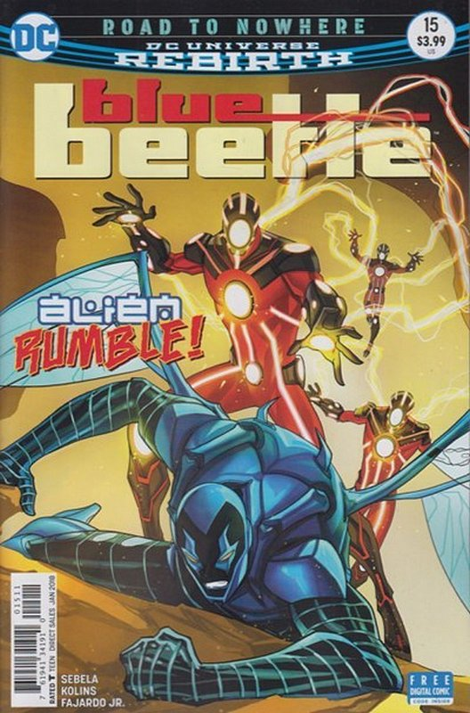 Cover of Blue Beetle (DC Vol 4) #15. One of 250,000 Vintage American Comics on sale from Krypton!
