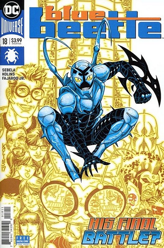 Cover of Blue Beetle (DC Vol 4) #18. One of 250,000 Vintage American Comics on sale from Krypton!