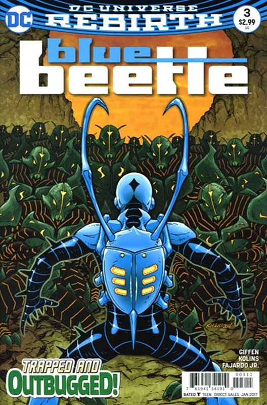 Cover of Blue Beetle (DC Vol 4) #3. One of 250,000 Vintage American Comics on sale from Krypton!