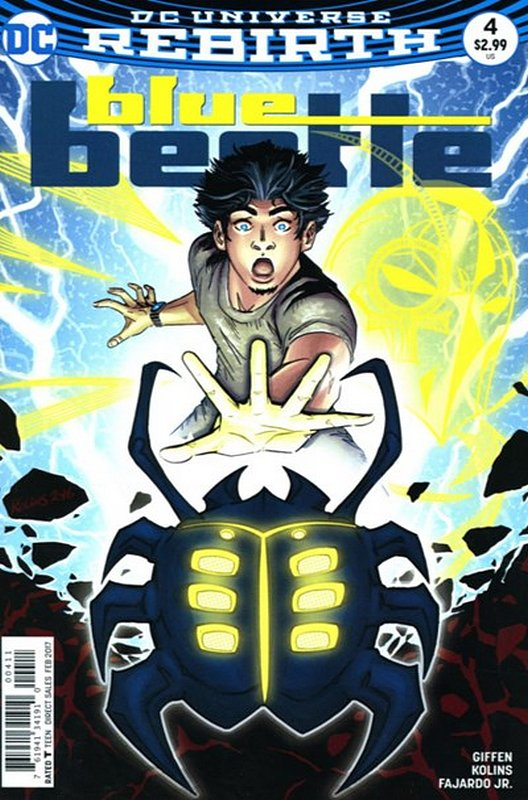 Cover of Blue Beetle (DC Vol 4) #4. One of 250,000 Vintage American Comics on sale from Krypton!