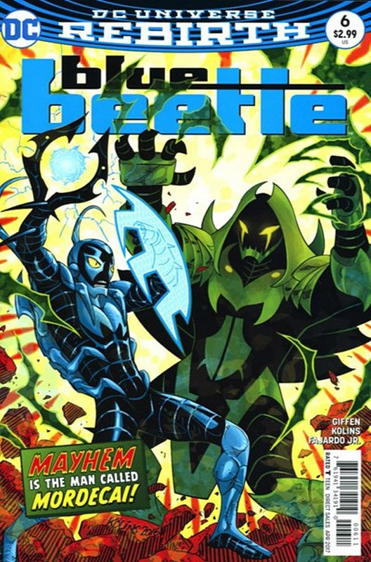 Cover of Blue Beetle (DC Vol 4) #6. One of 250,000 Vintage American Comics on sale from Krypton!