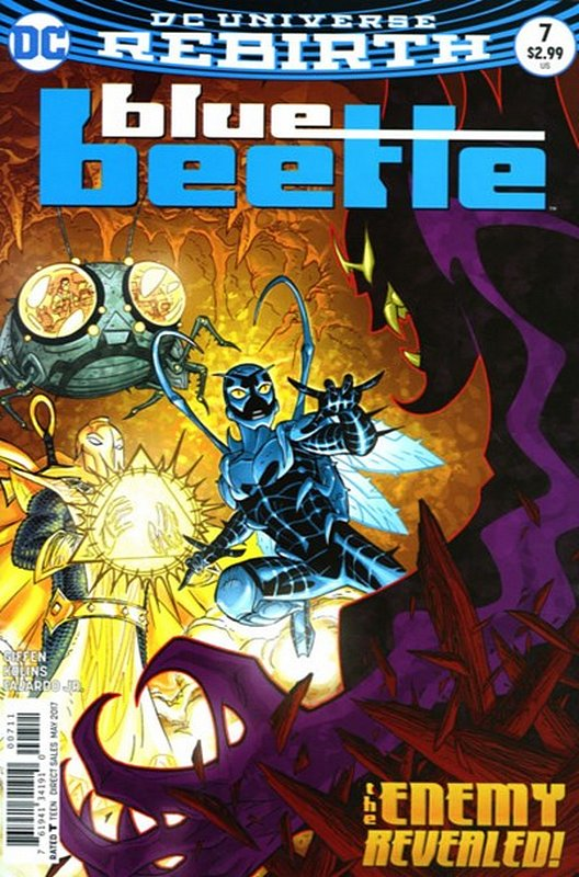 Cover of Blue Beetle (DC Vol 4) #7. One of 250,000 Vintage American Comics on sale from Krypton!