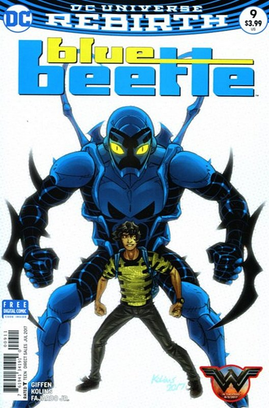 Cover of Blue Beetle (DC Vol 4) #9. One of 250,000 Vintage American Comics on sale from Krypton!