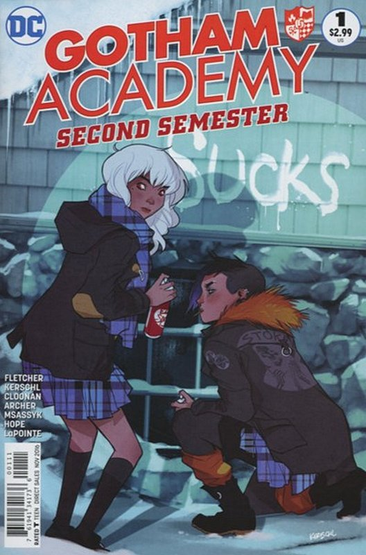 Cover of Gotham Academy: Second Semester #1. One of 250,000 Vintage American Comics on sale from Krypton!