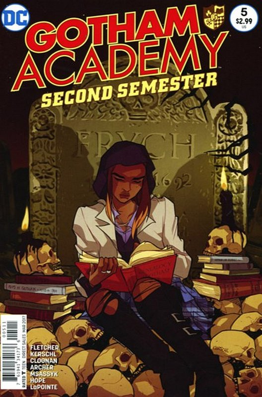 Cover of Gotham Academy: Second Semester #5. One of 250,000 Vintage American Comics on sale from Krypton!