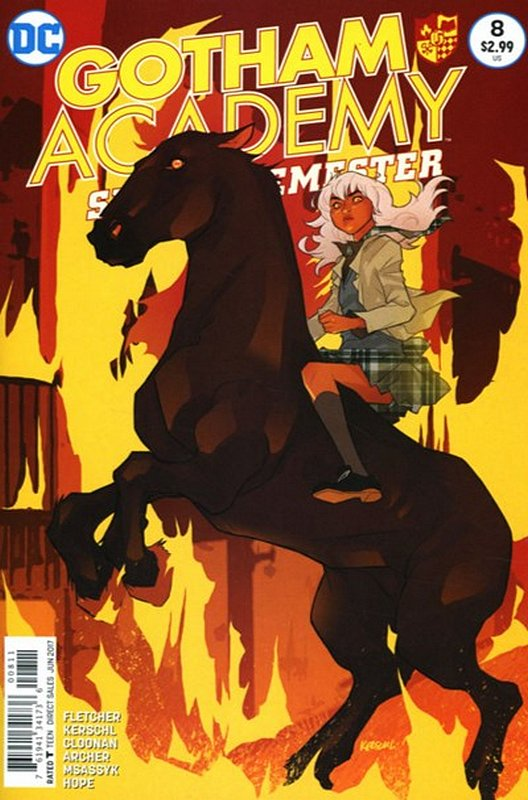 Cover of Gotham Academy: Second Semester #8. One of 250,000 Vintage American Comics on sale from Krypton!