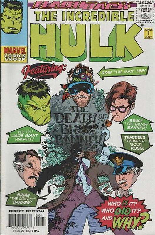 Cover of Incredible Hulk (Vol 2) #-1. One of 250,000 Vintage American Comics on sale from Krypton!