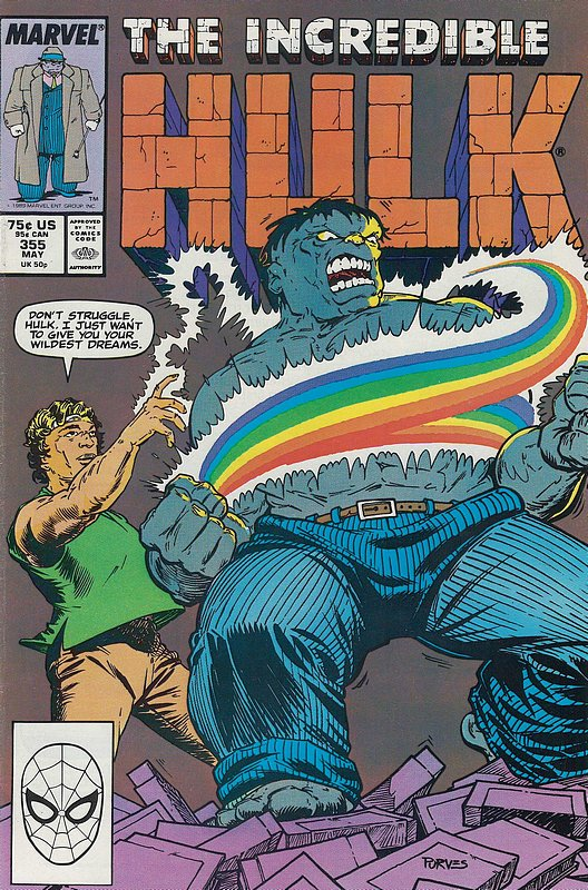 Cover of Incredible Hulk (Vol 2) #355. One of 250,000 Vintage American Comics on sale from Krypton!