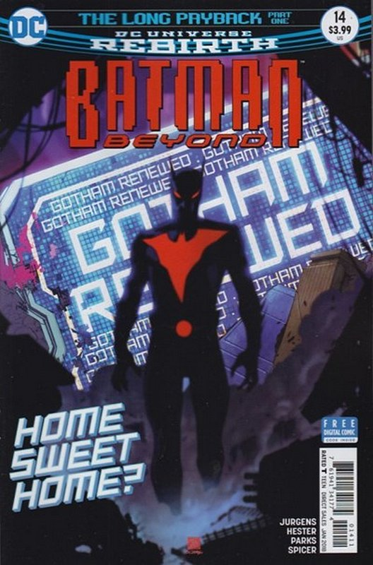 Cover of Batman Beyond (Vol 4) #14. One of 250,000 Vintage American Comics on sale from Krypton!
