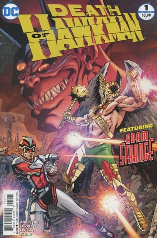 Cover of Death of Hawkman: Out of Time (2016 Ltd) #1. One of 250,000 Vintage American Comics on sale from Krypton!