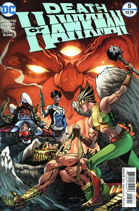 Cover of Death of Hawkman: Out of Time (2016 Ltd) #5. One of 250,000 Vintage American Comics on sale from Krypton!