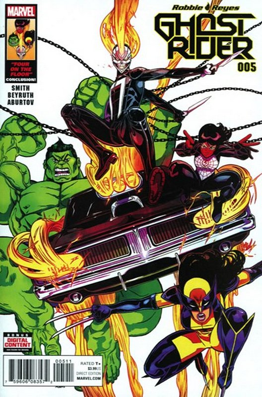 Cover of Ghost Rider (Vol 6) #5. One of 250,000 Vintage American Comics on sale from Krypton!
