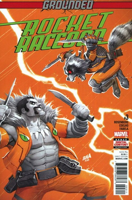 Cover of Rocket Raccoon (Vol 2) #3. One of 250,000 Vintage American Comics on sale from Krypton!