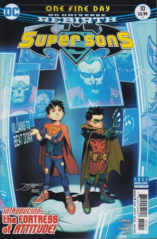 Cover of Super Sons (Vol 1) #10. One of 250,000 Vintage American Comics on sale from Krypton!
