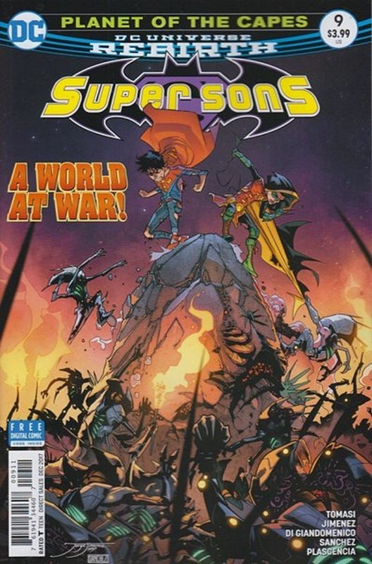 Cover of Super Sons (Vol 1) #9. One of 250,000 Vintage American Comics on sale from Krypton!