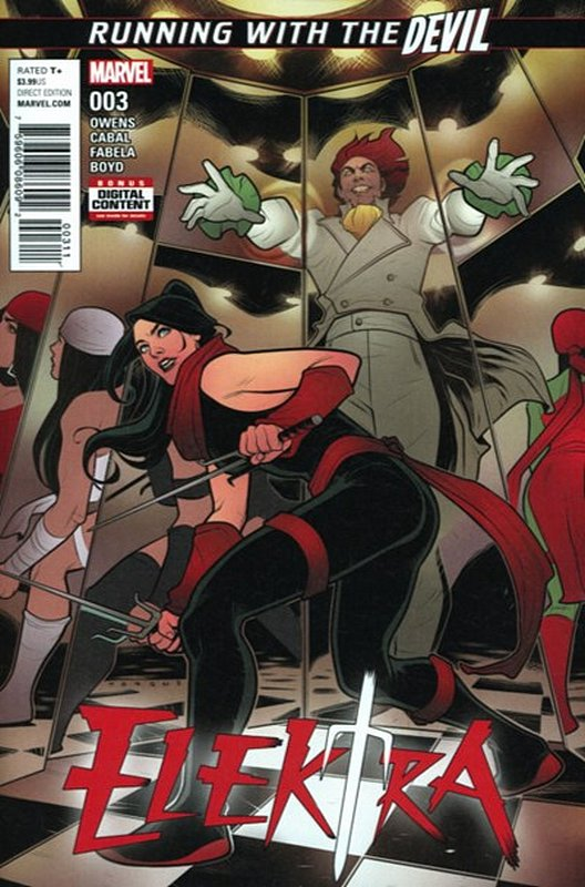Cover of Elektra (Vol 4) #3. One of 250,000 Vintage American Comics on sale from Krypton!