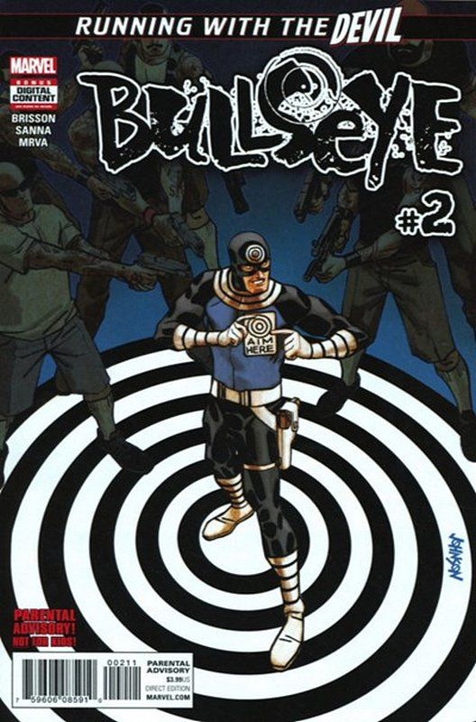 Cover of Bullseye (2017 Ltd) #2. One of 250,000 Vintage American Comics on sale from Krypton!