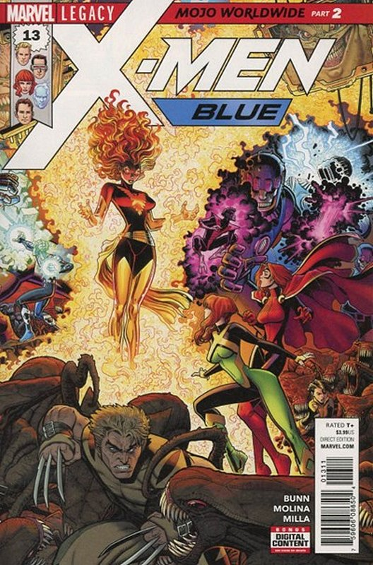 Cover of X-Men: Blue (Vol 1) #13. One of 250,000 Vintage American Comics on sale from Krypton!