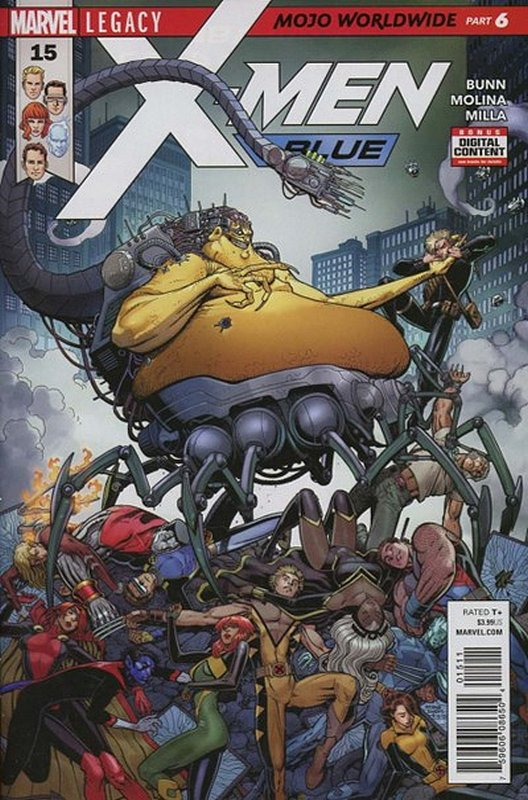Cover of X-Men: Blue (Vol 1) #15. One of 250,000 Vintage American Comics on sale from Krypton!