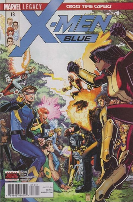 Cover of X-Men: Blue (Vol 1) #18. One of 250,000 Vintage American Comics on sale from Krypton!