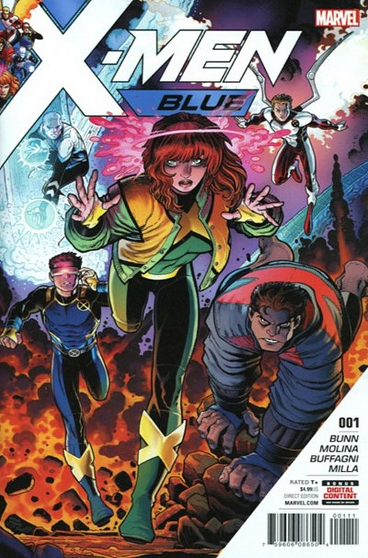 Cover of X-Men: Blue (Vol 1) #1. One of 250,000 Vintage American Comics on sale from Krypton!