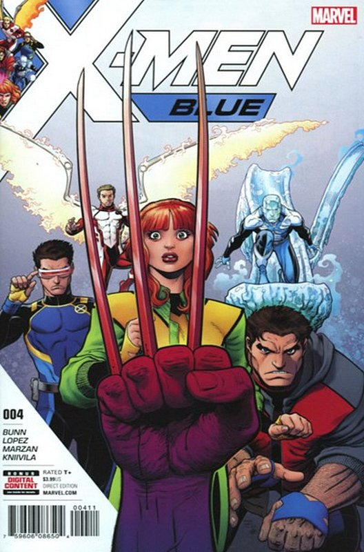 Cover of X-Men: Blue (Vol 1) #4. One of 250,000 Vintage American Comics on sale from Krypton!