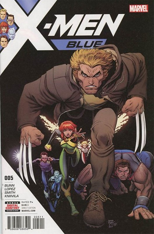 Cover of X-Men: Blue (Vol 1) #5. One of 250,000 Vintage American Comics on sale from Krypton!