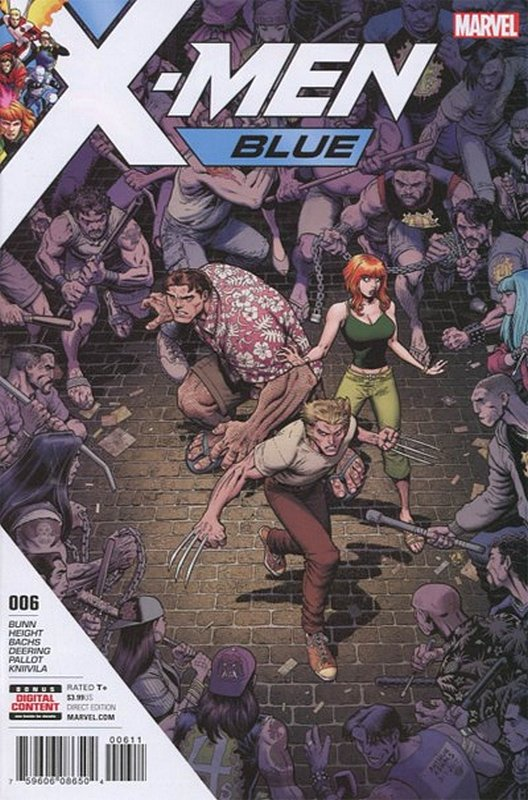 Cover of X-Men: Blue (Vol 1) #6. One of 250,000 Vintage American Comics on sale from Krypton!