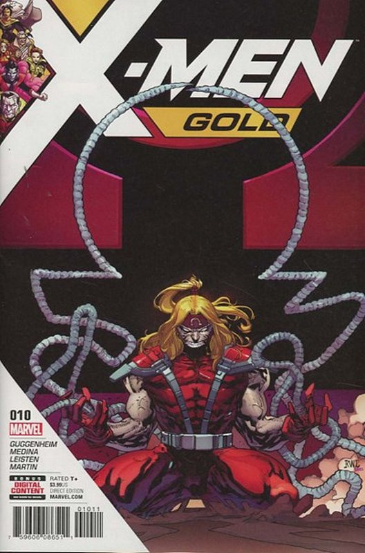 Cover of X-Men: Gold (Vol 1) #10. One of 250,000 Vintage American Comics on sale from Krypton!