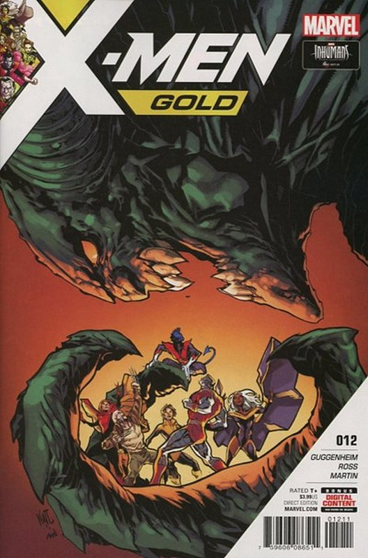 Cover of X-Men: Gold (Vol 1) #12. One of 250,000 Vintage American Comics on sale from Krypton!