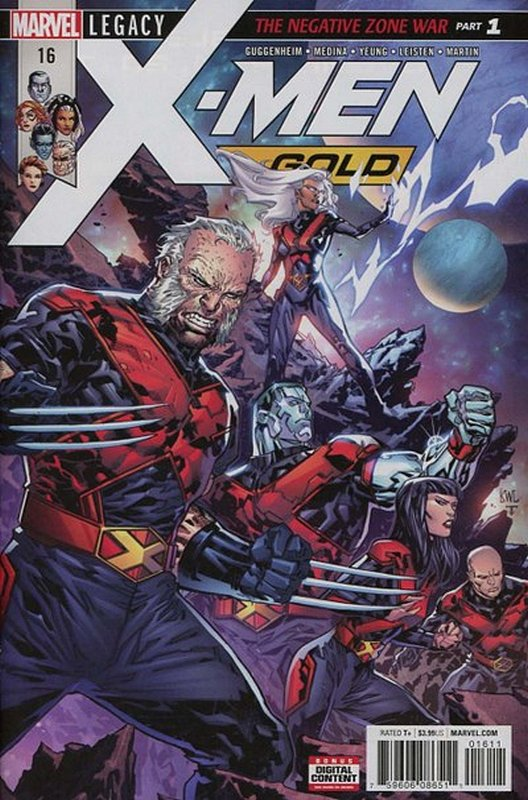 Cover of X-Men: Gold (Vol 1) #16. One of 250,000 Vintage American Comics on sale from Krypton!
