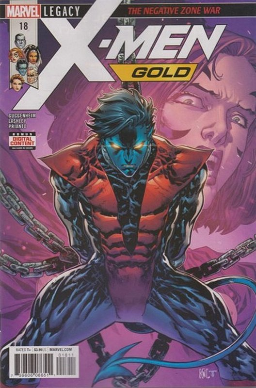 Cover of X-Men: Gold (Vol 1) #18. One of 250,000 Vintage American Comics on sale from Krypton!