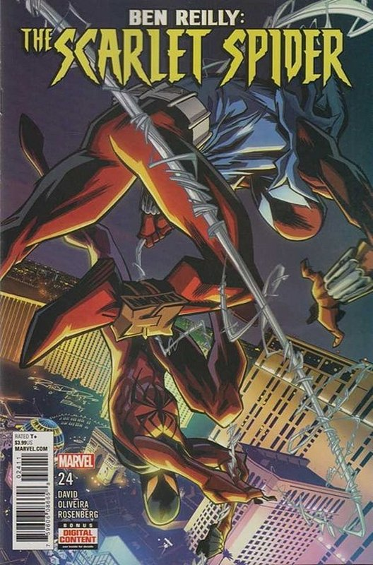 Cover of Ben Reilly Scarlet Spider (Vol 1) #24. One of 250,000 Vintage American Comics on sale from Krypton!
