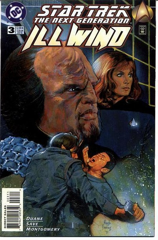 Cover of Star Trek: The Next Generation ill Wind (1995 Ltd) #3. One of 250,000 Vintage American Comics on sale from Krypton!