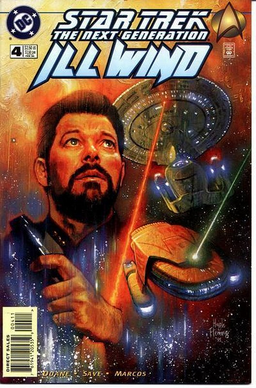 Cover of Star Trek: The Next Generation ill Wind (1995 Ltd) #4. One of 250,000 Vintage American Comics on sale from Krypton!