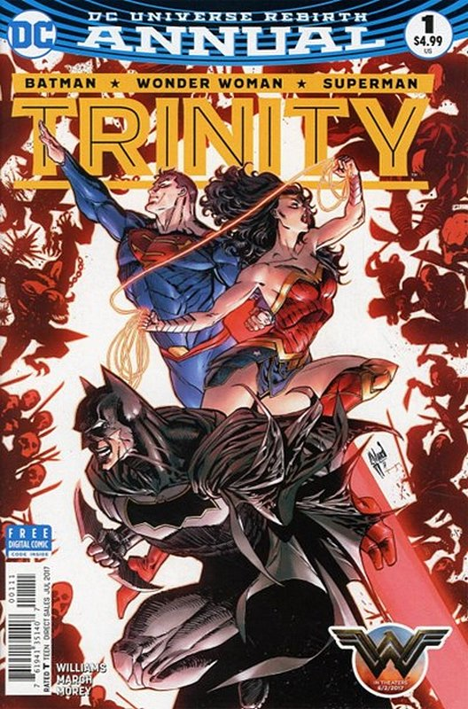 Cover of Trinity Annual 2017 #1. One of 250,000 Vintage American Comics on sale from Krypton!