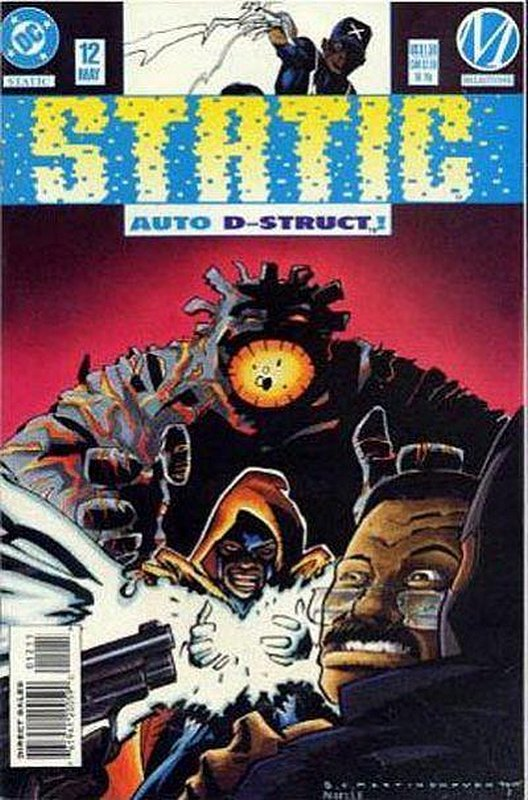 Cover of Static (Vol 1) #12. One of 250,000 Vintage American Comics on sale from Krypton!